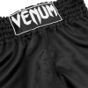 shorts venum muay thai classic black white f3