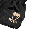 shorts venum muay thai classic black gold f4