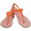 Crocs Isabella T-strap - Active Orange/Petal Pink