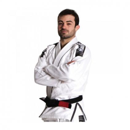 Nova Plus BÍLÉ Tatami fightwear BJJ kimono Gi + bílý pás zdarma (Velikost A0)