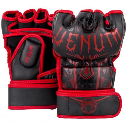 rukavice venum mma gloves gladiator black red fightexpert f1