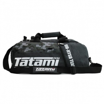 side on grey and camo gear bag grande