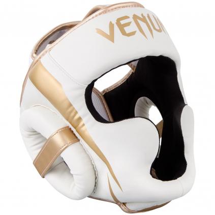headgear venum box elite white gold f1