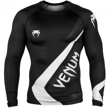 rashguard venum long sleeve contender4 black white f1