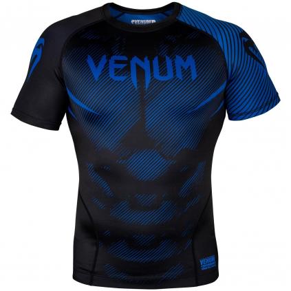 rashguard venum short sleeves nogi black blue f1