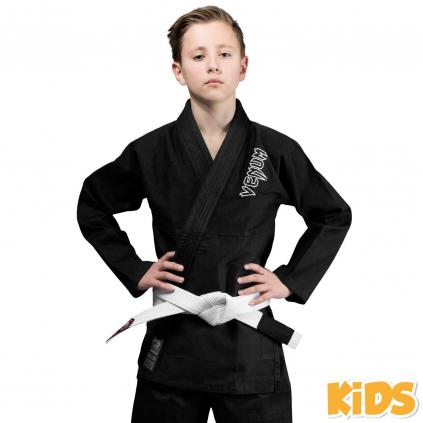 bjj gi kimono kids venum contender black f1