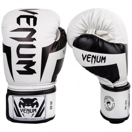 venum 0984 210 boxing gloves elite white black boxerske rukavice f1