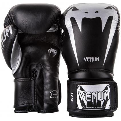 venum 2055 128 boxing gloves boxerske rukavice giant 3.0 black silver f2