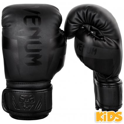 rukavice venum elite kids black f1