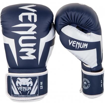 venum 1392 410 boxing gloves boxerske rukavice elite navyblue white f1