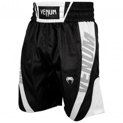 venum 03452 108 boxing short elite black white boxerske sortky f1