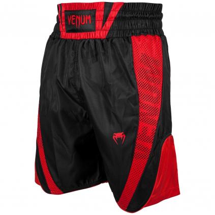 venum 03452 100 boxing short elite black red boxerske sortky f1