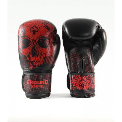 boxerske rukavice ground game red skull f1