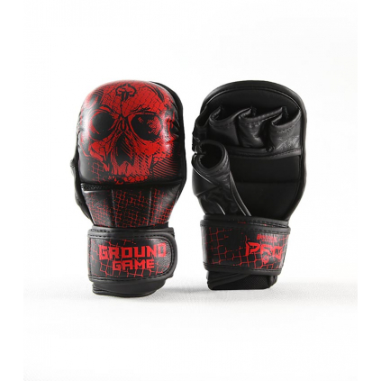 sparringove mma rukavice ground game red skull f1