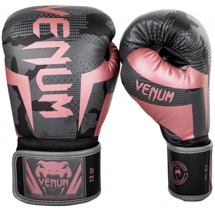 boxerky venum elite black pink gold 1