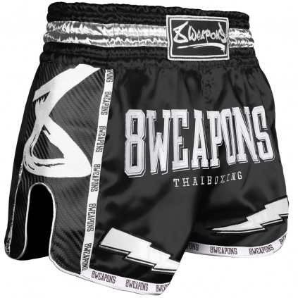 8 weapons muay thai shorts black night 2 0