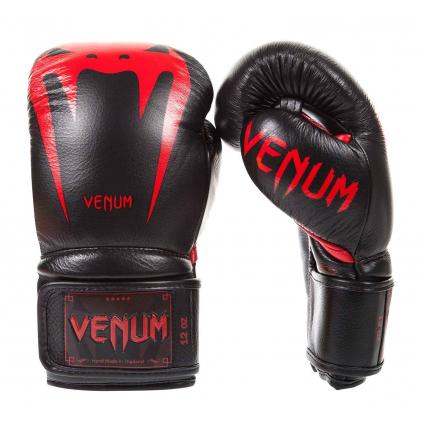 boxerske rukavice venum giant black red f1