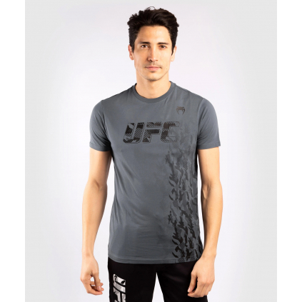 tshirt tricko short sleeve kratky rukav ufc venum authentic fight week grey sede f1