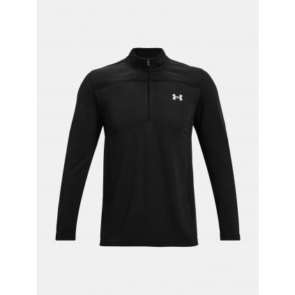 Panske triko dlouhy rukav under armour UA Seamless 1 2 Zip black f1