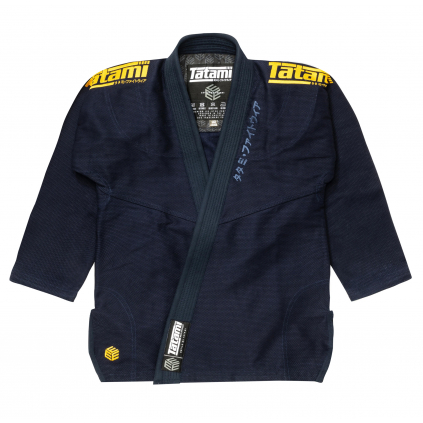 tatami black label white gi kimono bjj navy gold f1