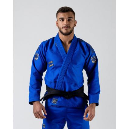 bjj gi kimono jiu jitsu kingz comp 450 v6 blue modre f1