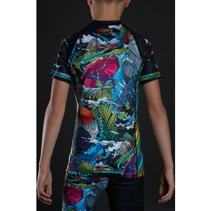 DĚTSKÝ rashguard - sportovní tričko Ground Game CARIOCA - krátký rukáv