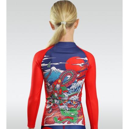DĚTSKÝ rashguard - sportovní tričko Ground Game TATAKAI Kids - dlouhý rukáv