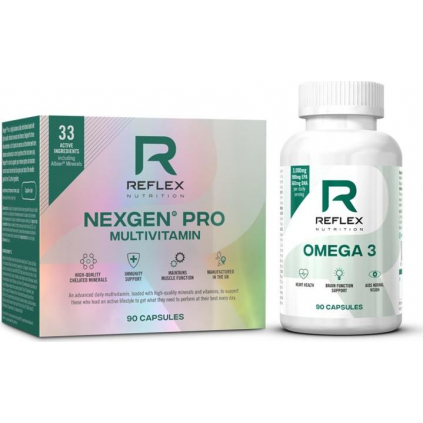 Reflex Nutrition Nexgen Pro 90 kapslí + Omega 3 90 kapslí ZDARMA