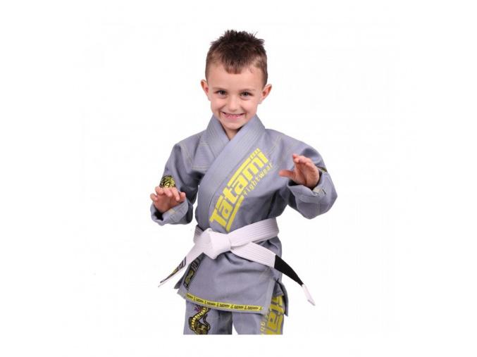 Dětské BJJ kimono / gi NEW MEERKATSU KIDS ANIMAL - ŠEDÉ - Tatami Fightwear + bílý pás ZDARMA