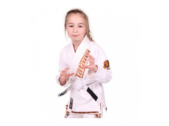Dětské BJJ kimono / gi NEW MEERKATSU KIDS ANIMAL - BÍLÉ - Tatami Fightwear + bílý pás ZDARMA