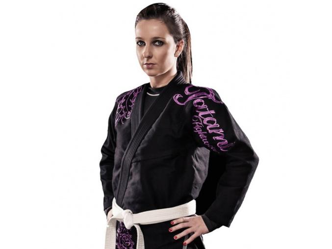 Ladies Phoenix ČERNÉ Tatami fightwear dámské BJJ kimono Gi (Velikost F1)