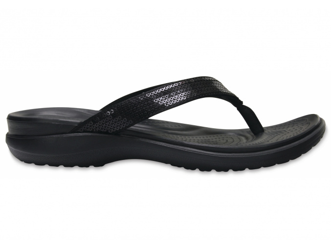 Crocs Capri V Sequin Flip W - Black (Velikost EU 36-37 (W6))
