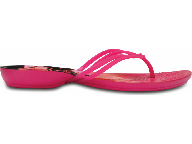 Crocs Isabella Graphic Flip W - Candy Pink/Tropical
