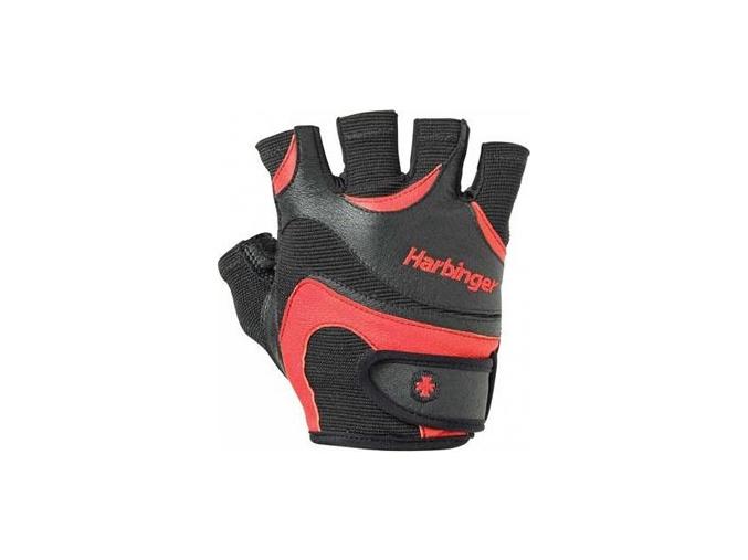 Harbinger Fitness rukavice 138 Flexfit bez omotávky - červené