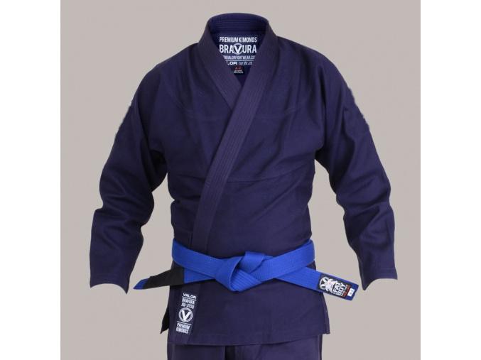 bjj kimono gi valor bravura classic plain navy f1