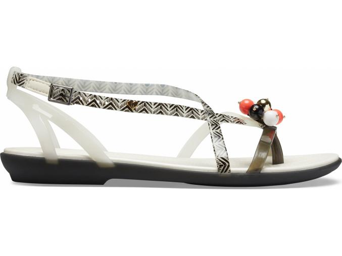 Drew X Crocs Isabella G Sndl W Black/White