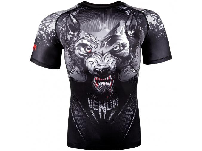 rashguad short sleeve kratky rukav venum werewolf ss black grey fightexpert f1