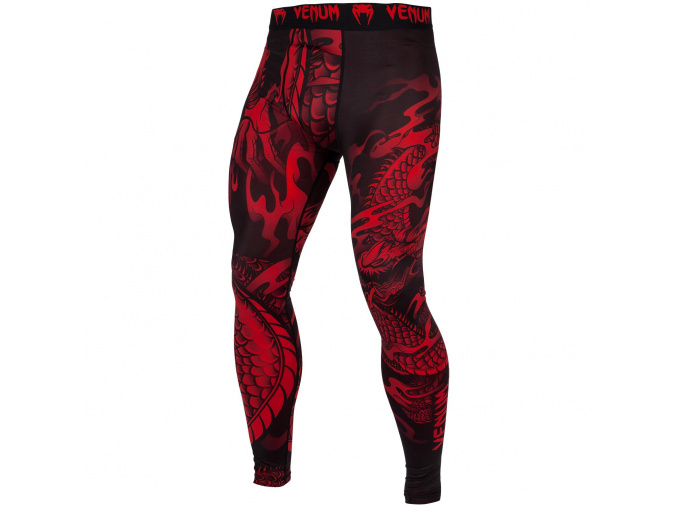 leginy mma spats dragons flight black red f1