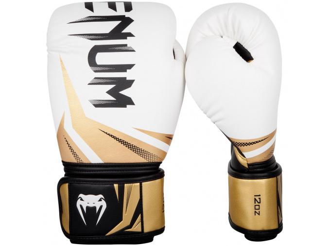 boxing gloves venum rukavice challenger 3.0 white black gold f1