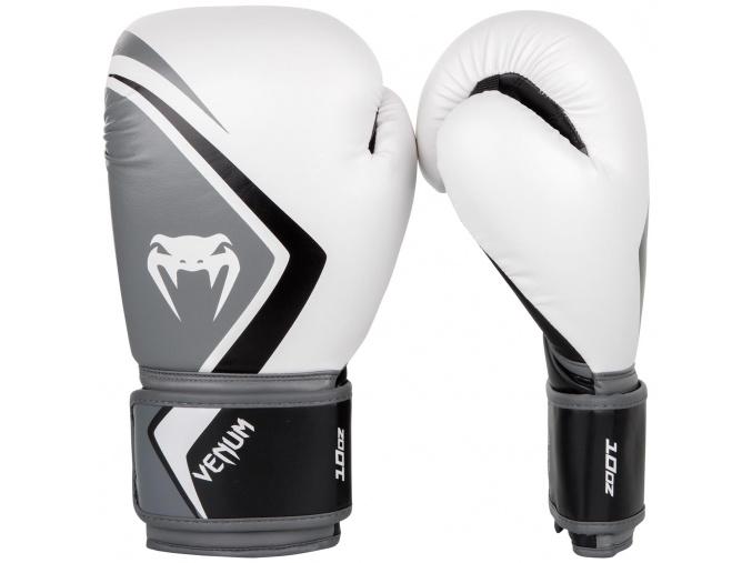 boxing gloves box rukavice venum contender 2 white grey f1