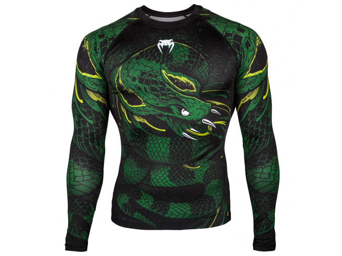 rashguard venum long greenviper black green f1