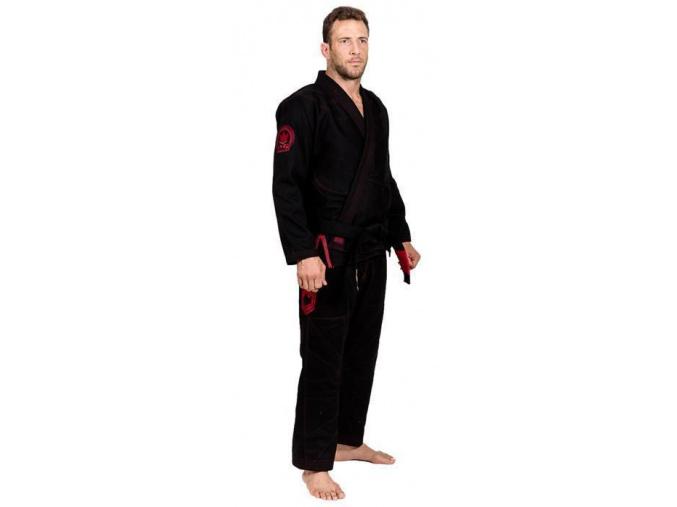 bjj kimono gi kingz black knight limited edition cerne f1