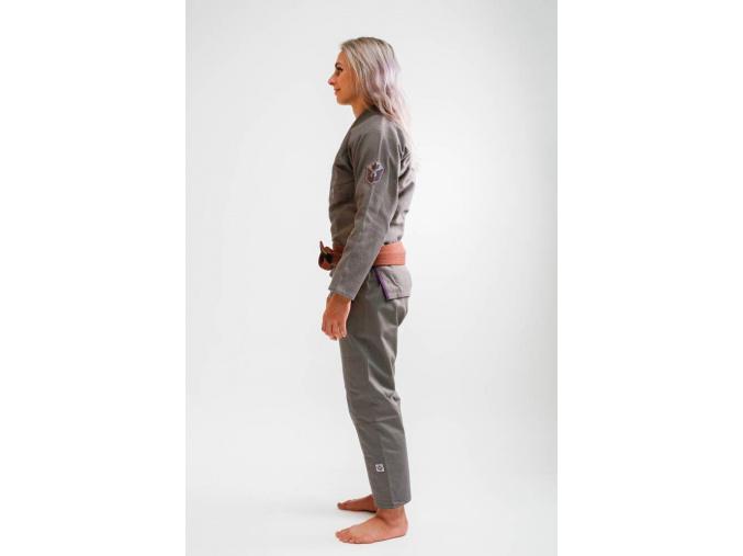 bjj kimono gi kingz balistico 2.0 woman grey f2