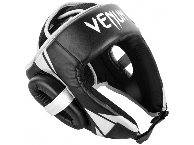 headgear box venum openface challenger black white f1