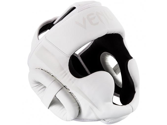 headgear box mma venum elite white white f1