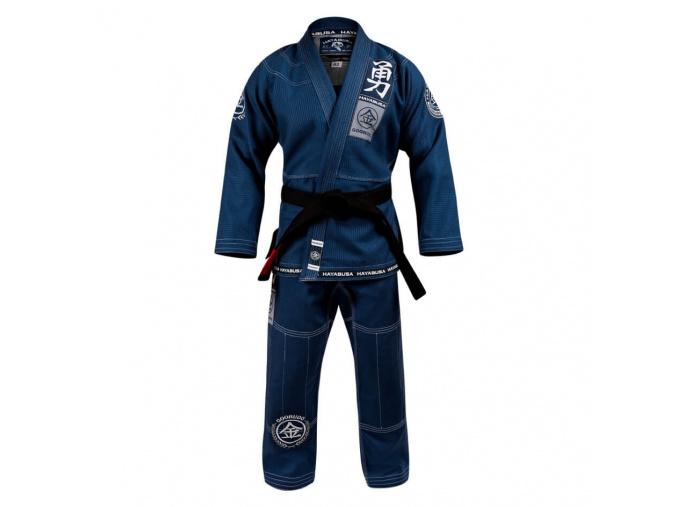 bjj kimono gi hayabusa gorudo 3 gold weave modre f1