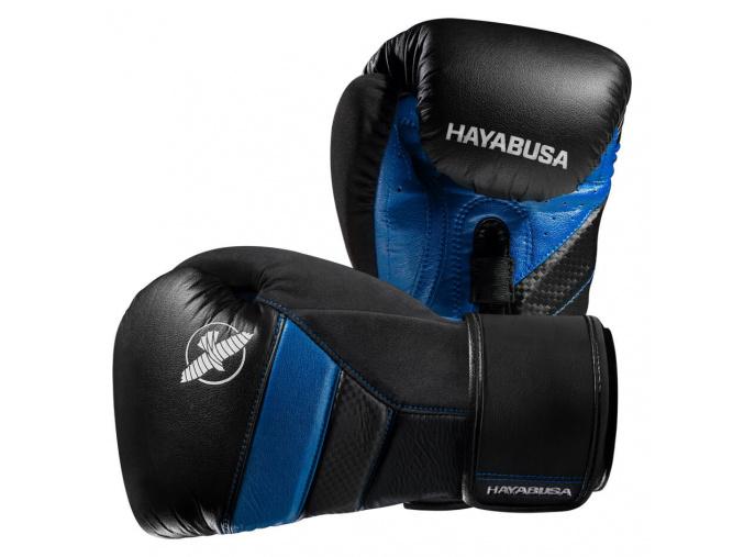 boxerske rukavice hayabusa t3 cerne modre f1