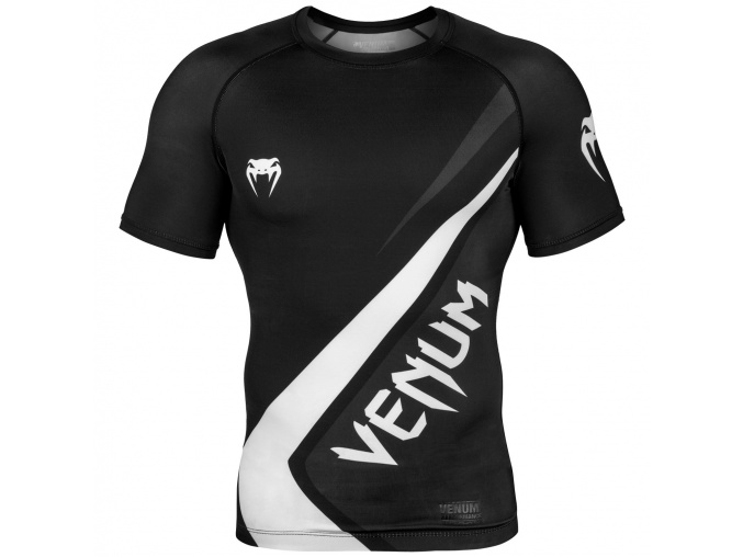 rashguard shortsleeves contender4 black white f1