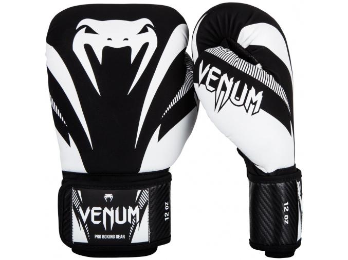 boxing gloves venum impact black white f1