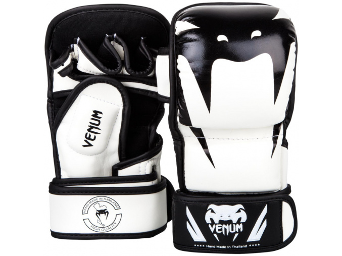 mma gloves rukavice venum sparring impact white black f0